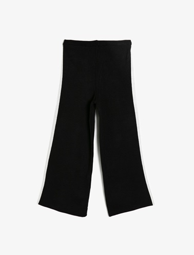 Koton Kids Çizgili Pantolon Siyah